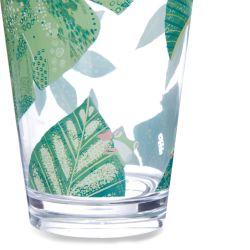 vaso de melamina con hojas y ranas, de diseño, no se rompe, perfecto para picnic