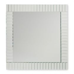 espejo de pared de marco biselado espejado de diseño
