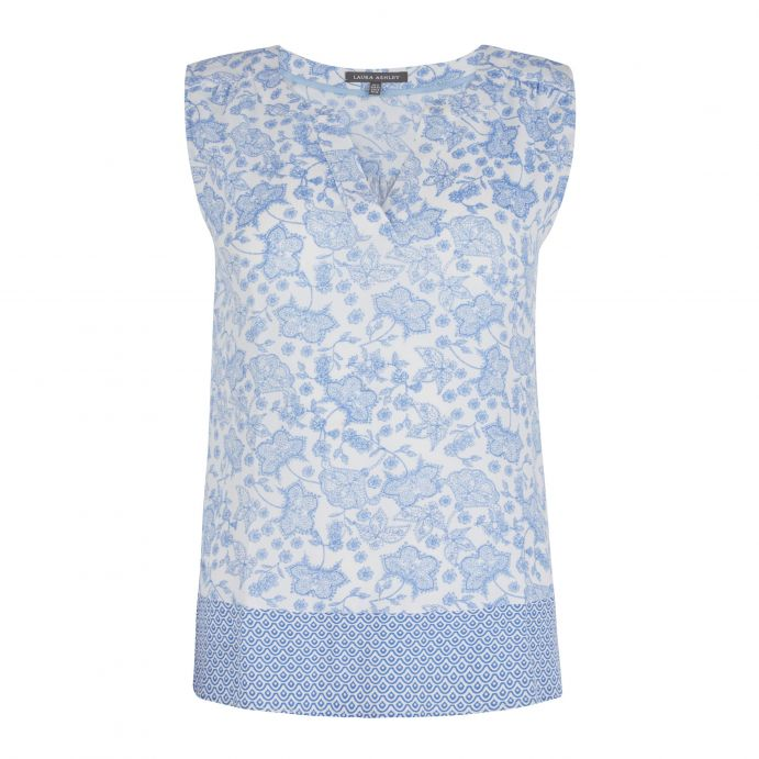 top Paisley azul