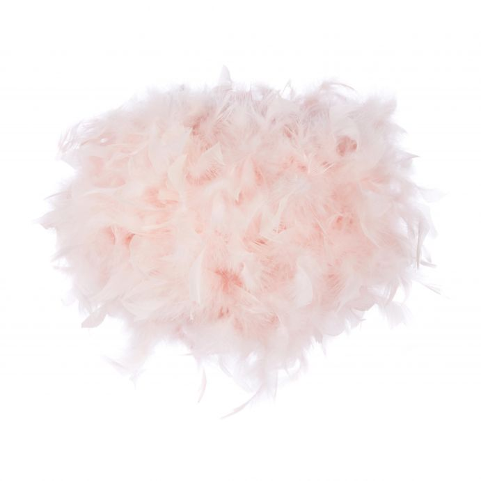 lámpara de plumas rosas de diseño