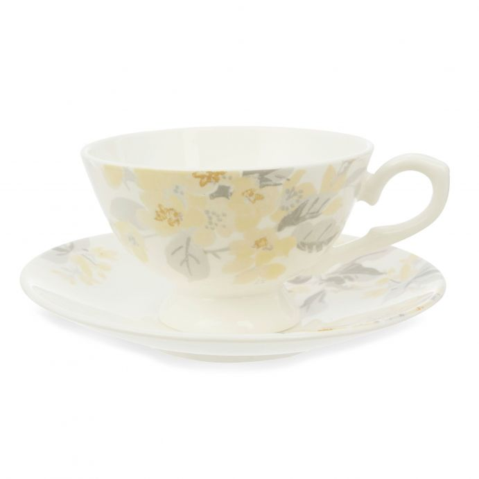 Taza y plato Apple Blossom