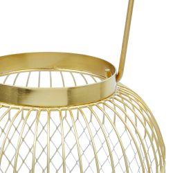 farol de alambre dorado