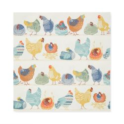 50 servilletas de papel estampado con gallinas de colores de diseño