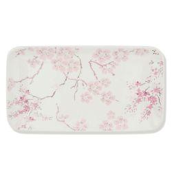 vacía bolsillos estampado con flores rosas de diseño