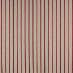 cabecero tapizado en tejido de rayas color rojo aráncano en capitoné abotonado diseño diamante