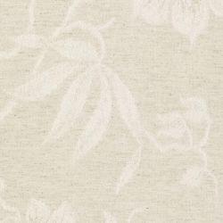 cabecero tapizado en tejido jacquard de flores color natural en capitoné abotonado diseño diamante