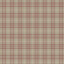 cabecero tapizado en tejido de cuadros en color rojo en capitoné abotonado diseño diamante