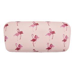 fundas de gafas de diseño rosa estampada con flamencos