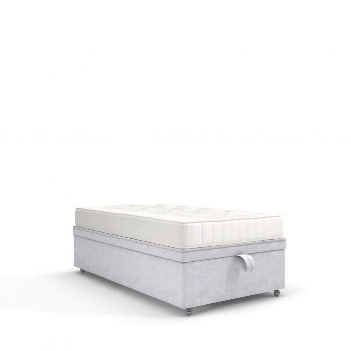 canapé abatible gris claro