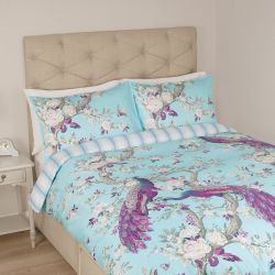 conjunto de cama Belvedere azul topacio - cama 150 cm