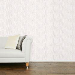papel pintado en tonos naturales de diseño de rayas verticales irregulares efecto cartón