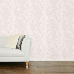 papel pintado de diseño de rosas en boceto en tonos naturales