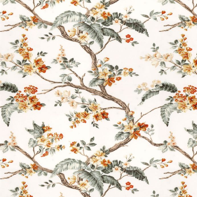 tela para cortinas y estores de flores en tonos naturales de diseño