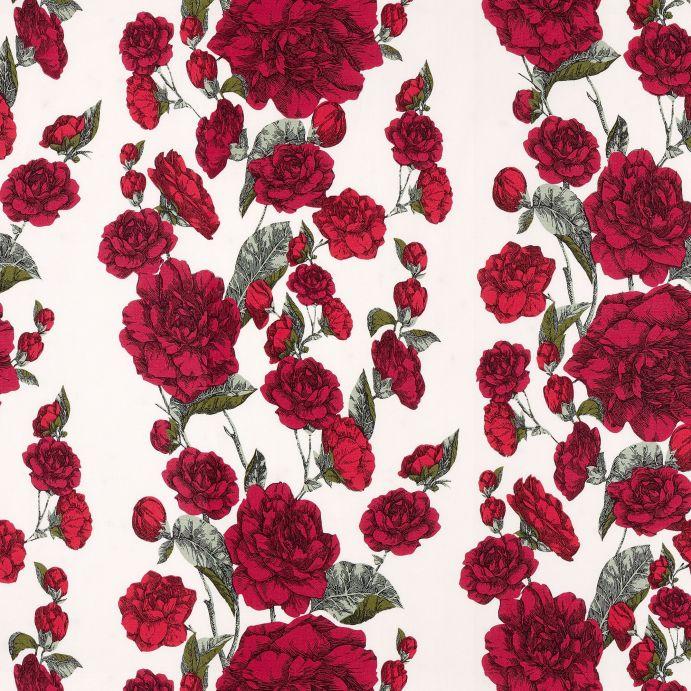 tela para cortinas y estores de rosas rojas de diseño