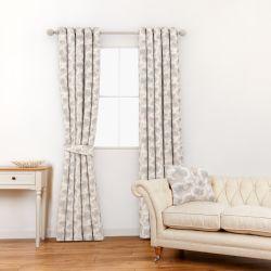 tela para cortinas y estores de flores en tonos naturales