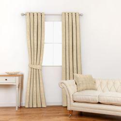tela para cortinas y estores tipo jacquard en color dorado