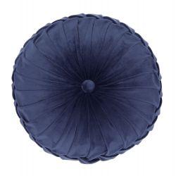 cojín redondo con botón azul oscuro de diseño