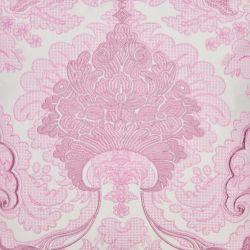 elegante cojín bordado de diseño clásico en color rosa rosado