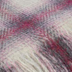 manta de lana de cuadros rosas y grises de diseño
