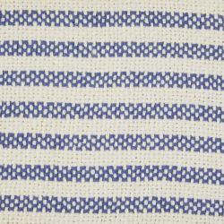manta de rayas azules y blancas con borlas de diseño