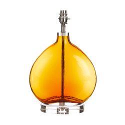 base de lámpara Amber cristal