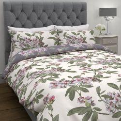 funda nórdica reversible con flores rosas de diseño