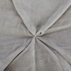 elegante colcha gris de tacto terciopelo