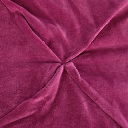 elegante colcha rosa de tacto terciopelo