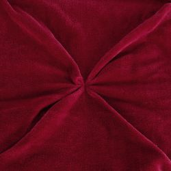 elegante colcha roja de tacto terciopelo