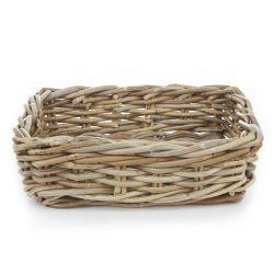 cesta plana de fibra natural diseño