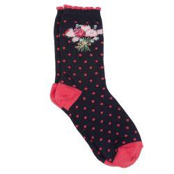 calcetines con lunares y flores