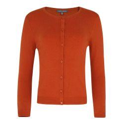 chaqueta naranja tostado con ribete