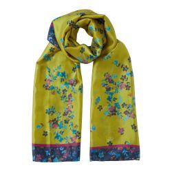 Llamativa bufanda floral Melody extra suave