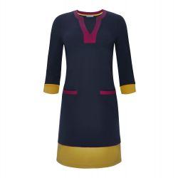 Vestido recto de color azul marino