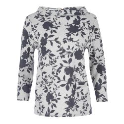 Top cuello Bardot estampado floral