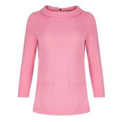 Top cuello Bardot rosa