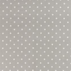 Tejido plastificado Polka Dot gris acero