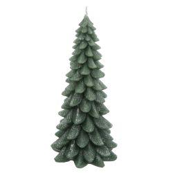 vela con forma de árbol de Navidad verde