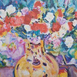 Lienzo de frutas y flores 60x50cm