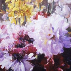Lienzo floral barroco