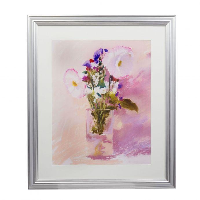 Cuadro floral lila