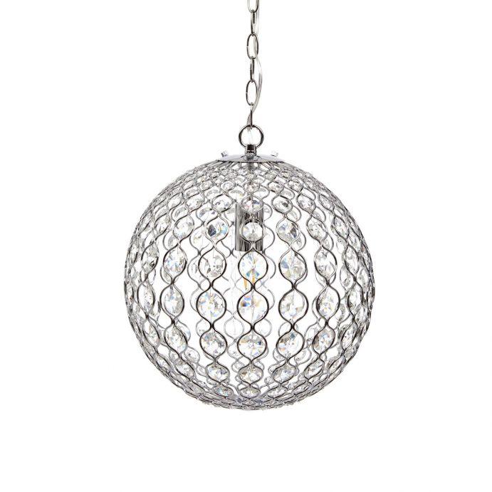 Colgante heathcote cristal globo