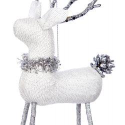 decoración Reno blanco Navidad