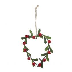 decoración corona Berries and Heart Navidad