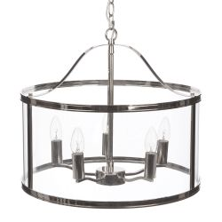 lámpara de techo Harrigton cromo x5