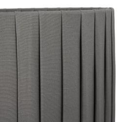 Pantalla cilíndrica plisada color carbón