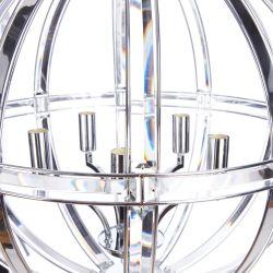 lámpara de techo Aidan cromo x5