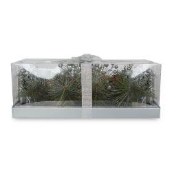 centro de mesa Foliage plata y verde