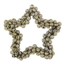 Decoración estrella de cascabeles dorados