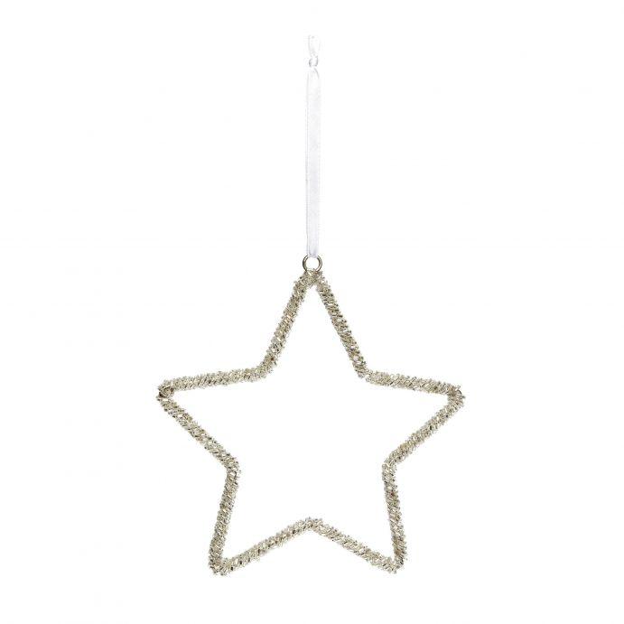 decoración estrella abalorios
